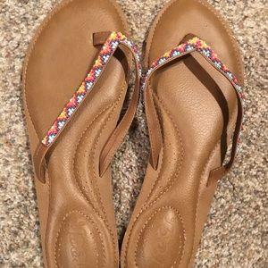 Size 9 Reef  beaded flip flops - very cute & comfy